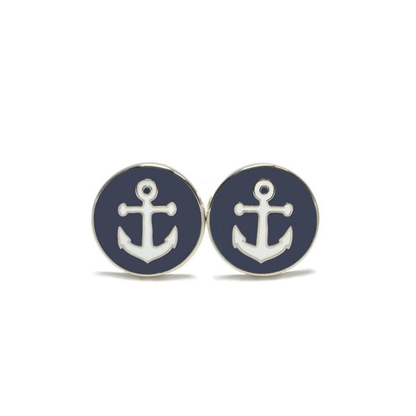 Anchor Cufflinks-Men - Accessories - Cufflinks-SummerTies-The Luxury Upgrade