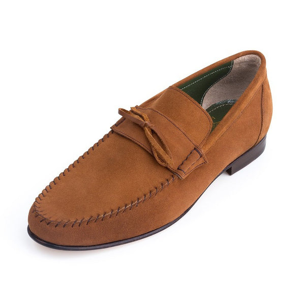 Andrew - Moccasin Style Italian Suede Loafer-Men - Shoes - Oxfords-M Andrews Sartorial Luxury-The Luxury Upgrade