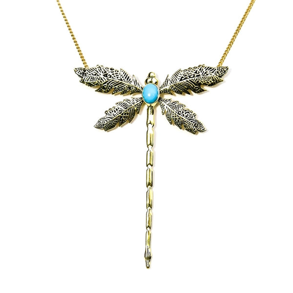 Dragonfly Pendant Necklace-Women - Jewelry - Necklaces-BISJOUX-The Luxury Upgrade