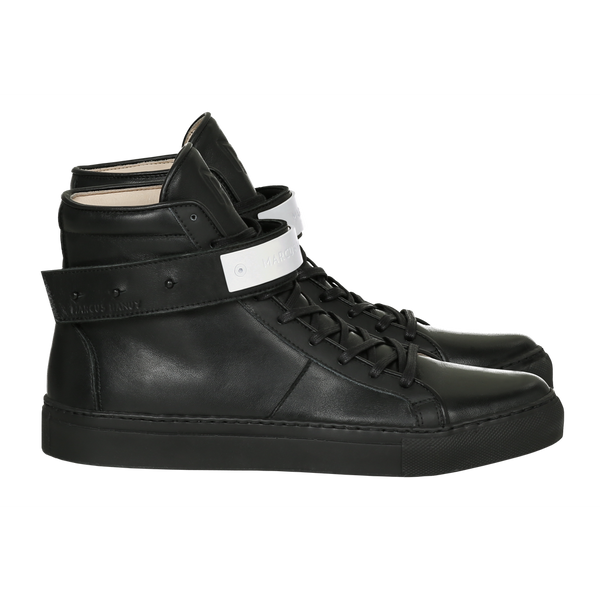 CLASSIC HIGH TOP MEN | MATTE WHITE | BLACK-Men - Shoes - Sneakers-MARCUS HANUY-The Luxury Upgrade