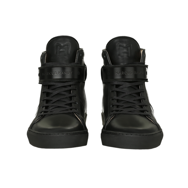 CLASSIC HIGH TOP WOMEN | MATTE BLACK | BLACK-Women - Shoes - Sneakers-MARCUS HANUY-The Luxury Upgrade