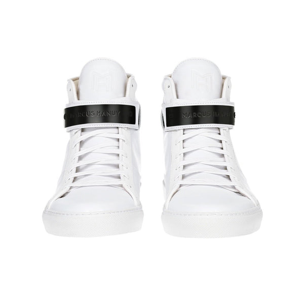 CLASSIC HIGH TOP WOMEN | MATTE BLACK | WHITE-Women - Shoes - Sneakers-MARCUS HANUY-The Luxury Upgrade