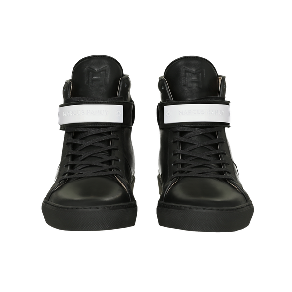 CLASSIC HIGH TOP WOMEN | MATTE WHITE | BLACK-Women - Shoes - Sneakers-MARCUS HANUY-The Luxury Upgrade