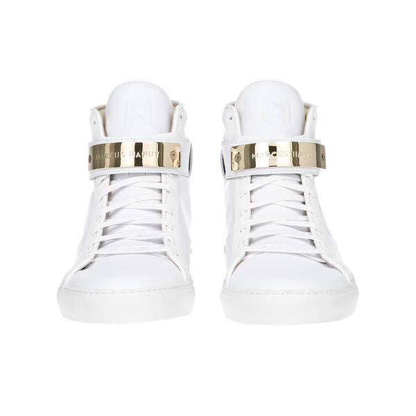 CLASSIC HIGH TOP WOMEN | MATTE WHITE | WHITE-Women - Shoes - Sneakers-MARCUS HANUY-The Luxury Upgrade
