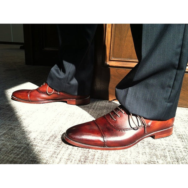 Clayton - Captoe Oxford Brown-Men - Shoes - Oxfords-M Andrews Sartorial Luxury-The Luxury Upgrade