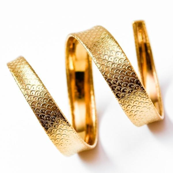 Fish scale or Perforated Armlet-Women - Jewelry - Bracelets-BISJOUX-The Luxury Upgrade