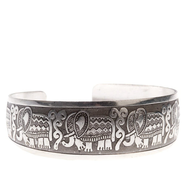 Ganapati Elephant Tibetan Silver Bracelet-Women - Jewelry - Bracelets-Peace + Love +Bling ~ Ethical is Beautiful-The Luxury Upgrade