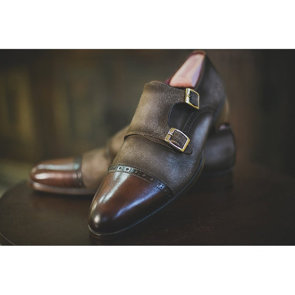 Grayson - Double Monk Strap-Men - Shoes - Oxfords-M Andrews Sartorial Luxury-The Luxury Upgrade