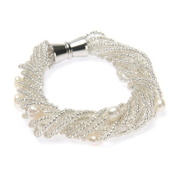 Liquid Lux Pearl Bracelet-Women - Jewelry - Bracelets-Peace + Love +Bling ~ Ethical is Beautiful-The Luxury Upgrade