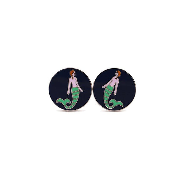 Mermaid Cufflinks-Men - Accessories - Cufflinks-SummerTies-The Luxury Upgrade