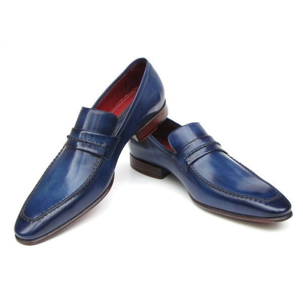 Paul Parkman Men's Loafer Shoes Navy (ID#068-BLU)-Men - Shoes - Loafers & Drivers-Paul Parkman Handmade Shoes-The Luxury Upgrade