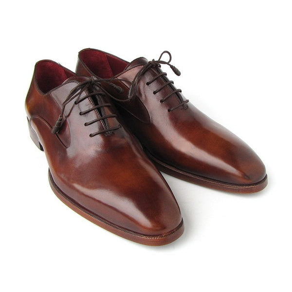Paul Parkman Men's Plain Toe Brown Calfskin Oxfords (ID#019-BRW)-Men - Shoes - Oxfords-Paul Parkman Handmade Shoes-The Luxury Upgrade