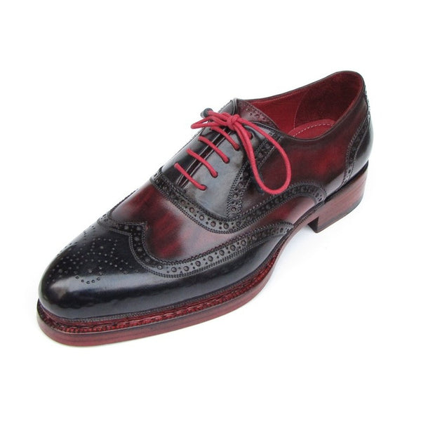 ... Paul Parkman Men s Triple Leather Sole Wingtip Brogues Navy   Red  (ID 027- ... 11b1ee1e34cc