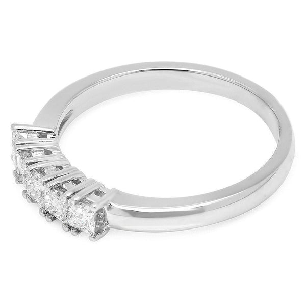 PMI 14W@2.6 5PC@0.50 5-STONE PRINCESS-Bands-Prime Mountings Inc.-The Luxury Upgrade