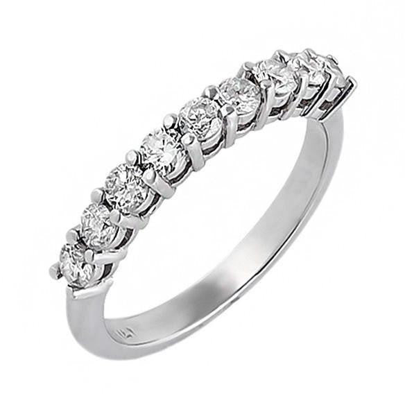 Round Diamonds Prong Set Gold Wedding Band Ring at 0.64 Carat Total Weight-Rings-The Luxury Upgrade-The Luxury Upgrade