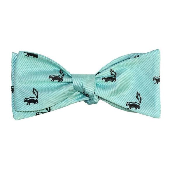 Skunk Bow Tie - Sea Green, Woven Silk-Men - Accessories - Bow Ties-SummerTies-The Luxury Upgrade