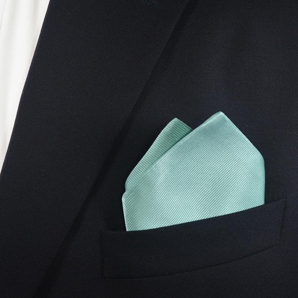 Solid Color Pocket Square - Light Green, Woven Silk-Men - Accessories - Scarves-SummerTies-The Luxury Upgrade
