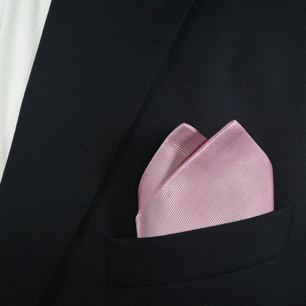 Solid Color Pocket Square - Pink, Woven Silk-Men - Accessories - Scarves-SummerTies-The Luxury Upgrade
