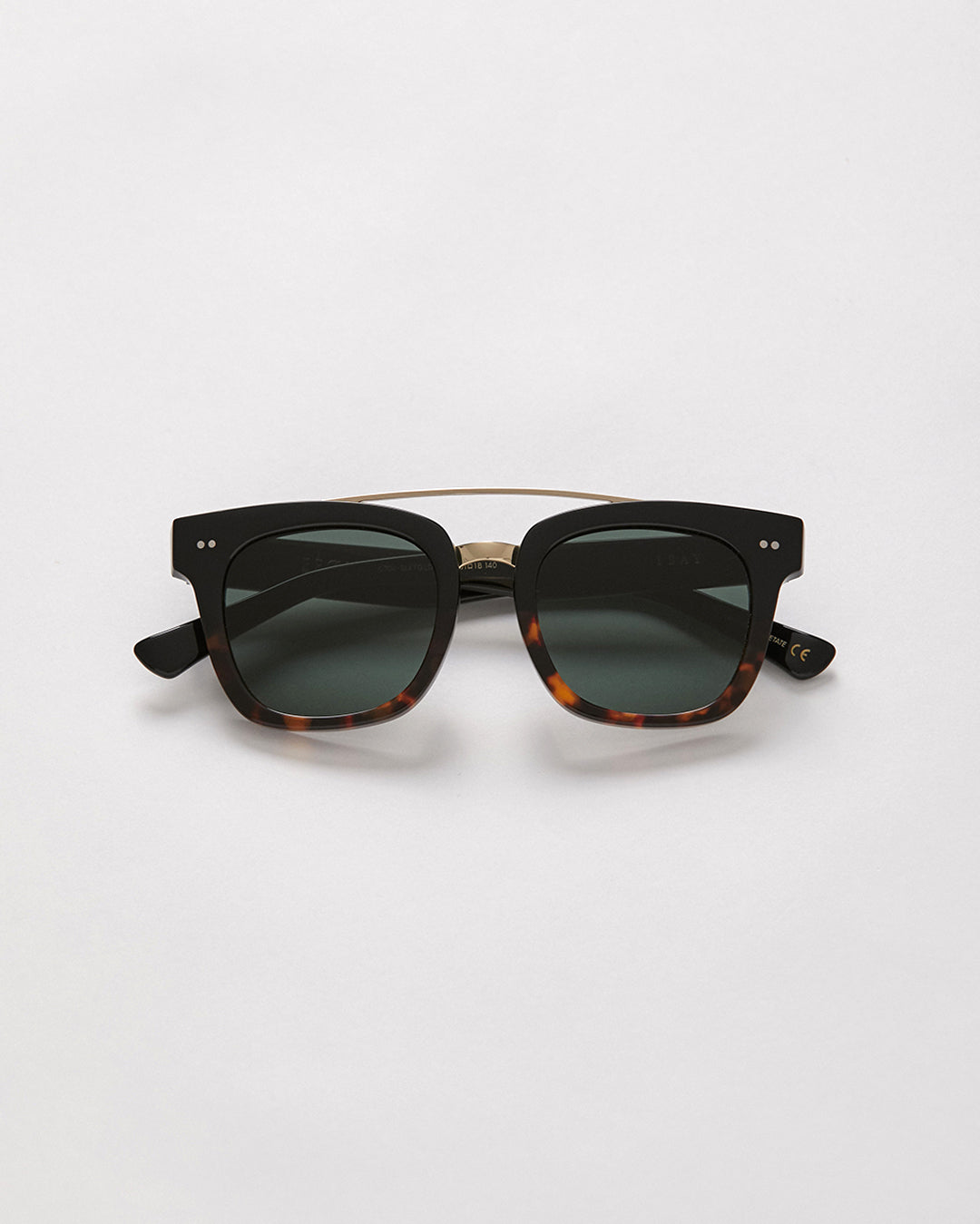 Isay - Black & Tortoise Gloss Split & Gold / Green