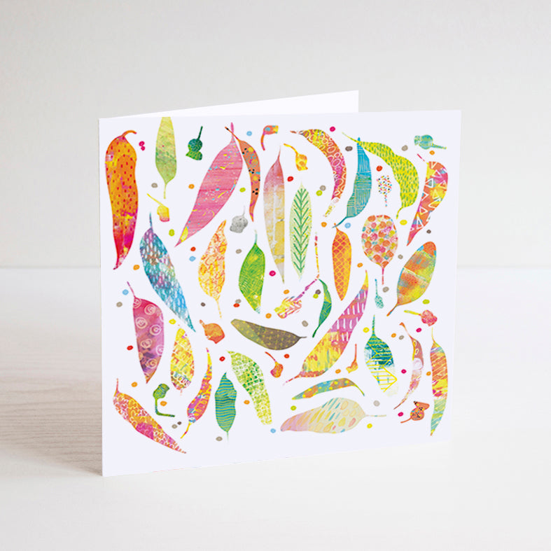 Tamsin Richardson - Leaves Square Gift Card (tri029)