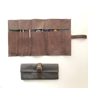 Melissa Statham - Charcoal Pen/Paintbrush/Tool Roll (msta010)