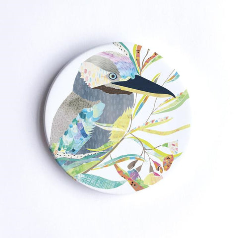 Braw Paper Co. - Blue Winged Kookaburra Ceramic Coaster (tri011)