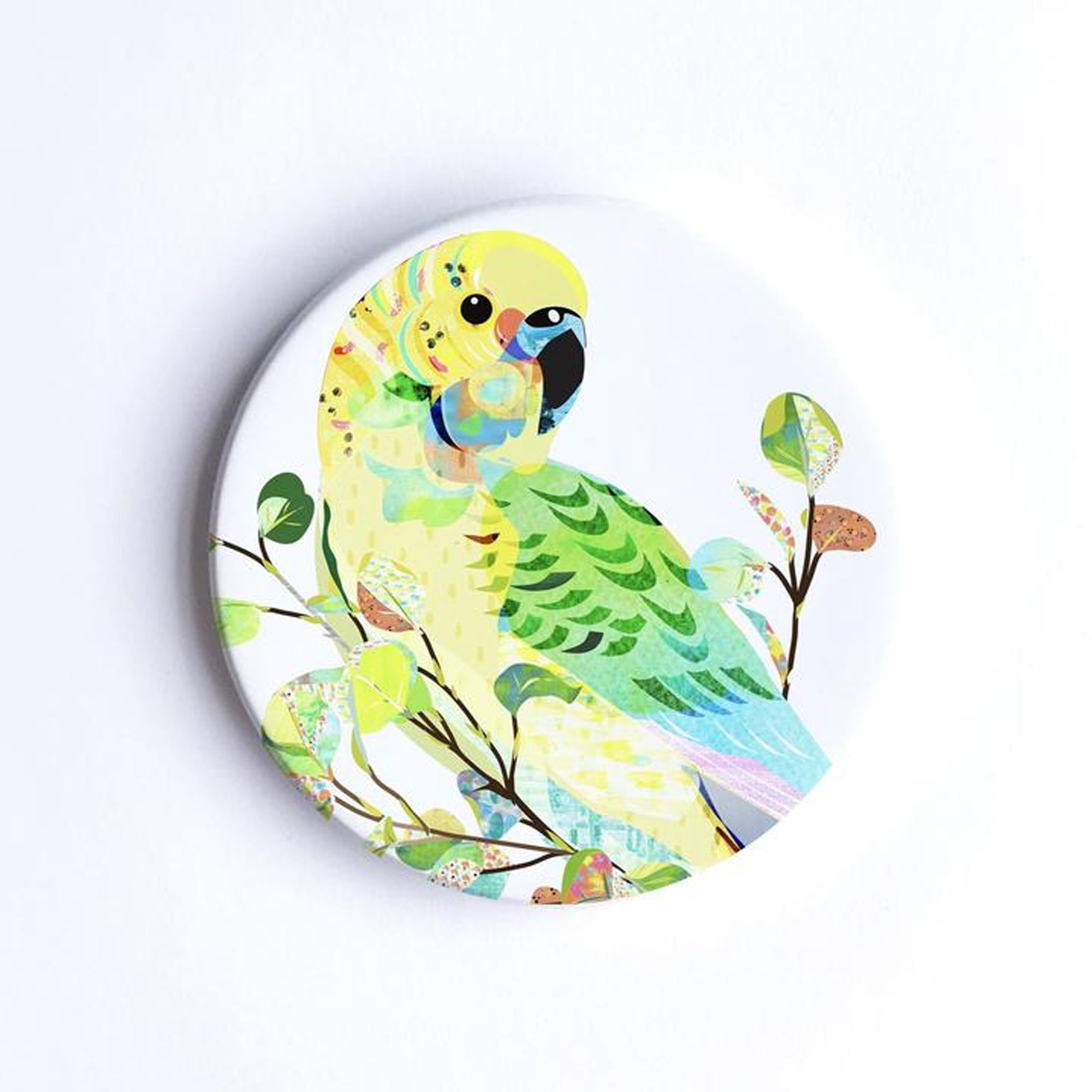 Braw Paper Co. - Budgerigar Ceramic Coaster (tri012)