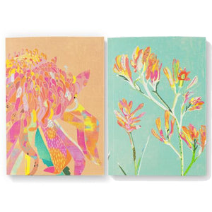 Braw Paper Co. - Waratah and Paws Blank Pack of 2 Notebooks (tri033)