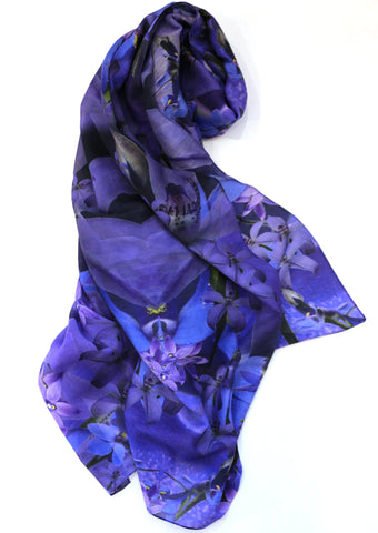 Chrisea Designs - 'Blue Orchid Trio'  Wrap (cde001)