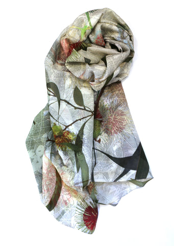 Chrisea Designs - 'Hakea Haven' Cotton/Silk Wrap (cde015)