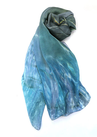 Chrisea Designs - 'Joy of Swimming' Cotton/Silk Wrap (cde023)