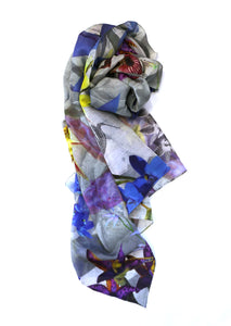 Chrisea Designs - 'Orchid Outing' Cotton/Silk Wrap (cde018)