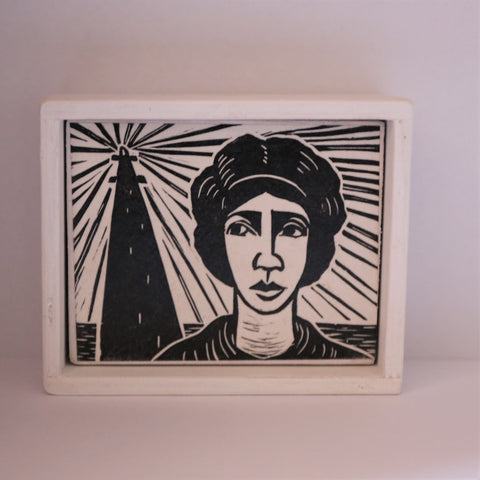"Jane Button - ""Point of Departure"" Framed Box (jbu001)"