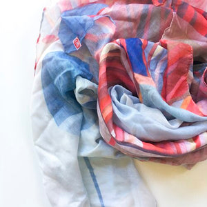 "Ruth De Vos -  100% Cotton ""Macrocarpa"" Scarf  (rde015)"
