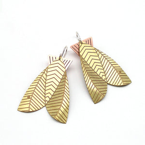 Jessica Jubb -  Etched Brass Moth Earrings (jju020)