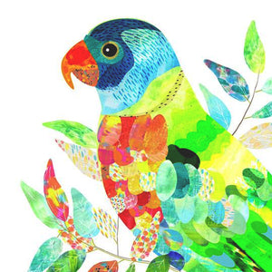 Braw Paper Co. - Rainbow Lorikeet Art Print (tri018)
