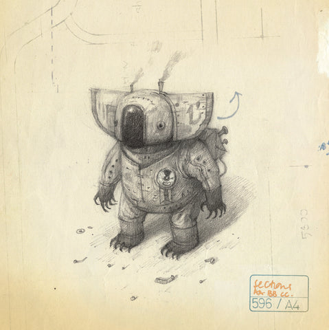 Shaun Tan - 'Parafin Oil Koala' Square Card (m/nuo11)