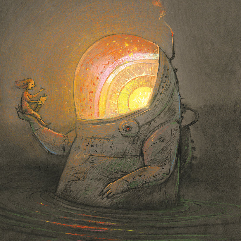 Shaun Tan - 'Reading Time' Square Card (m/nuo13)