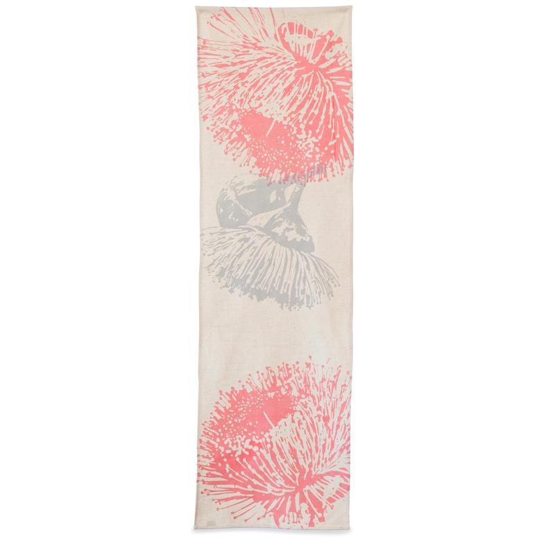 Elwyn Morgan -  'Mallee Pink & Grey' Table Runner (emo021)
