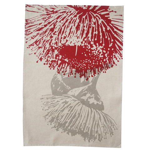 Elwyn Morgan -  Mallee Red and Grey Tea towel (emo010)
