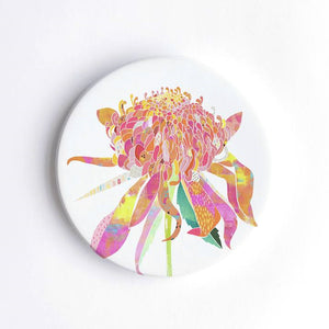 Braw Paper Co. - Waratah Ceramic Coaster (tri008)