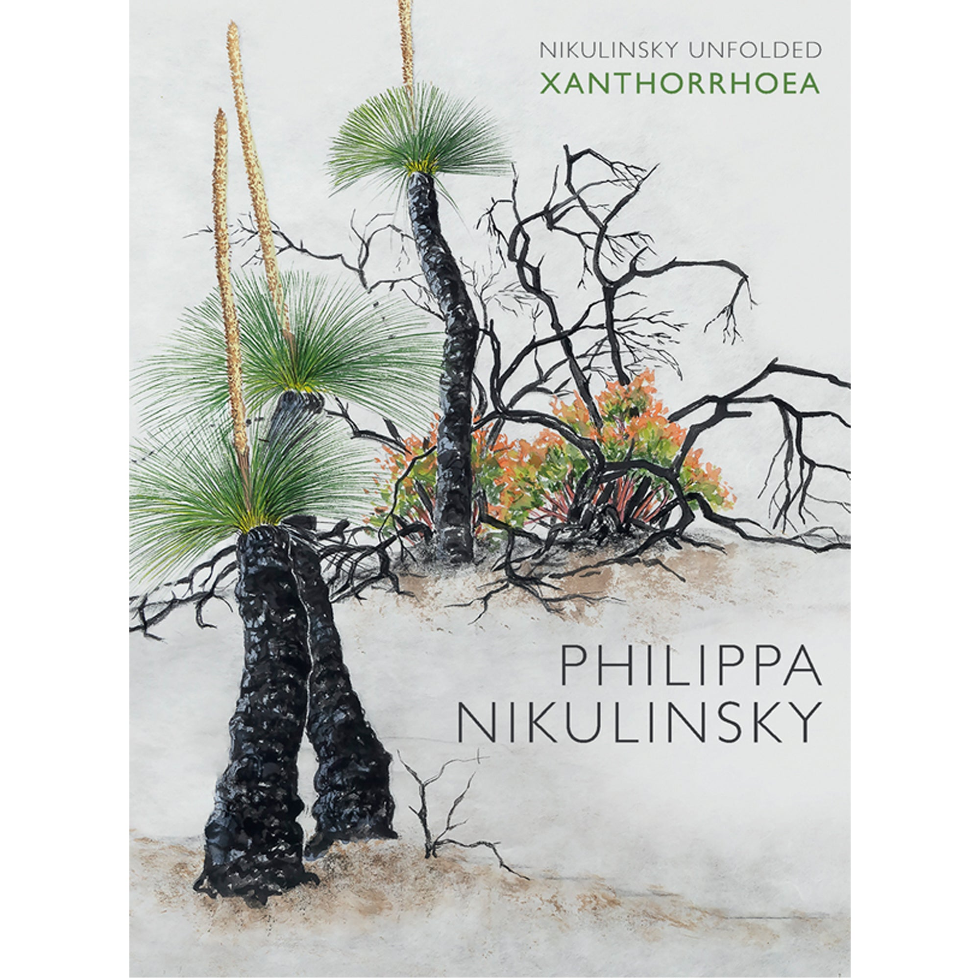 Philippa Nikulinski - 'Unfolded Xanthorrhoea' Hardcover Artist's Book (m/fac01)
