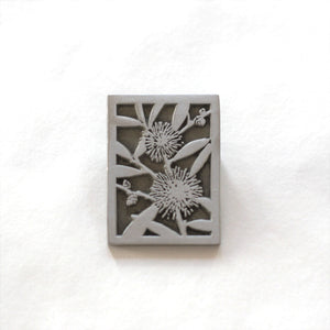 Garry & Jan Zeck -  'Hakea Laurina' Pewter Brooch (gze091)