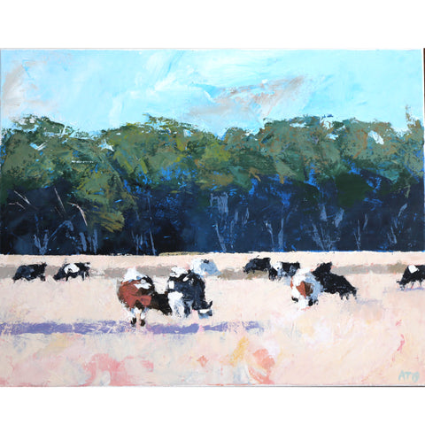 Alastair Taylor -  '10 and a 1/2 Cows' Acrylic on Canvas (alta076)