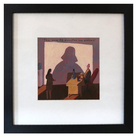 Alastair Taylor -  'HR Director' Framed Acrylic on Paper (alta072)