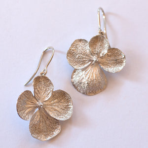 Barbara Kelly - Hydrangea Sterling Silver Earrings (bkel011)
