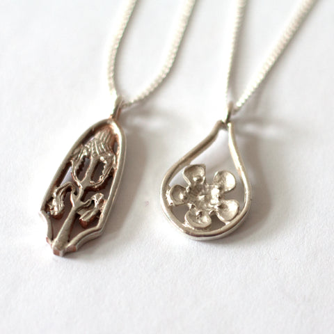 Bethamy Linton - Sterling Silver Wildflower Heritage Pendants (bli011)