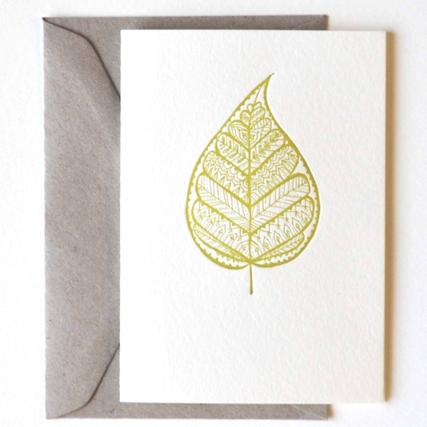 Emily Shingleton - Greeting Card - Buddha Leaf (esh010)