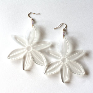 sca.har. - Acrylic Flora Dangle Etched Acrylic Earrings (hpe012)