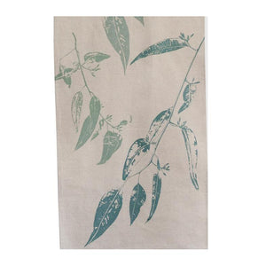 Elwyn Morgan - Jarrah Leaf Green Blue Tea Towel (emo014)